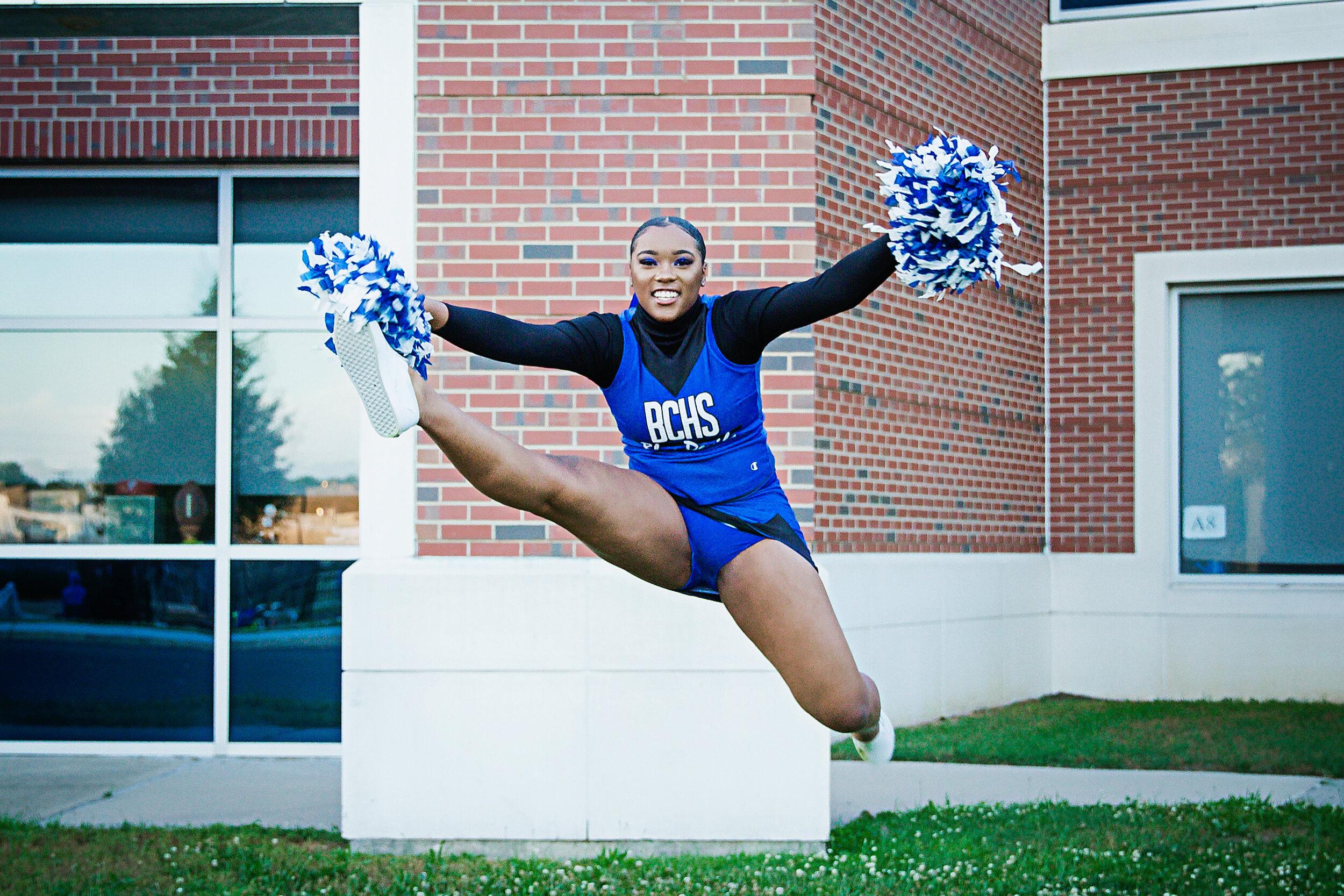 hurky cheerleading jump