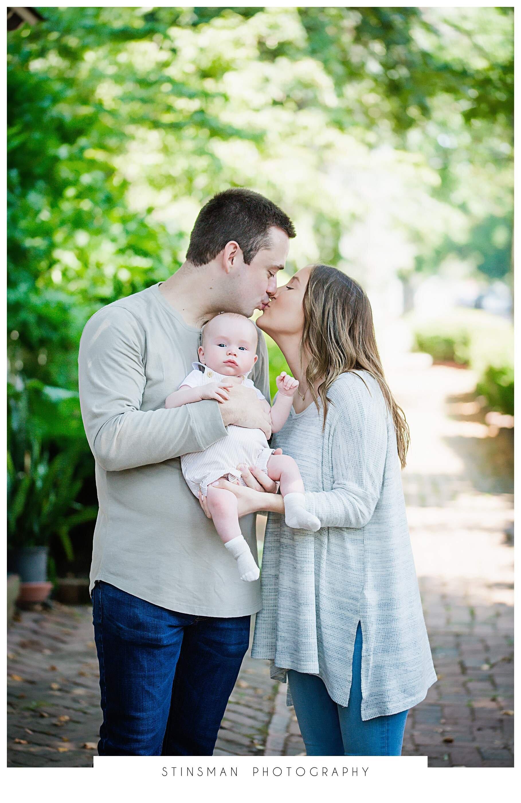 family kissing