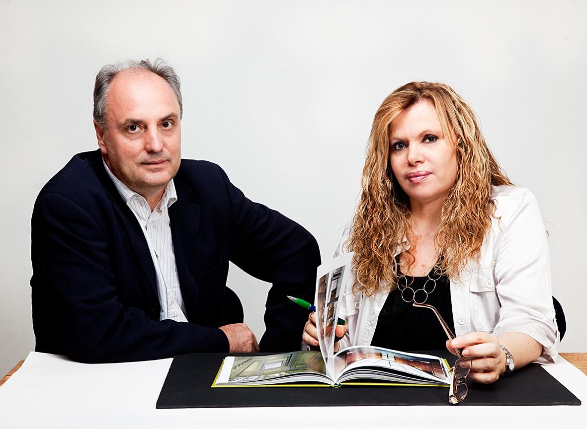 Diego Estévez y Maribel Correa, arquitectos