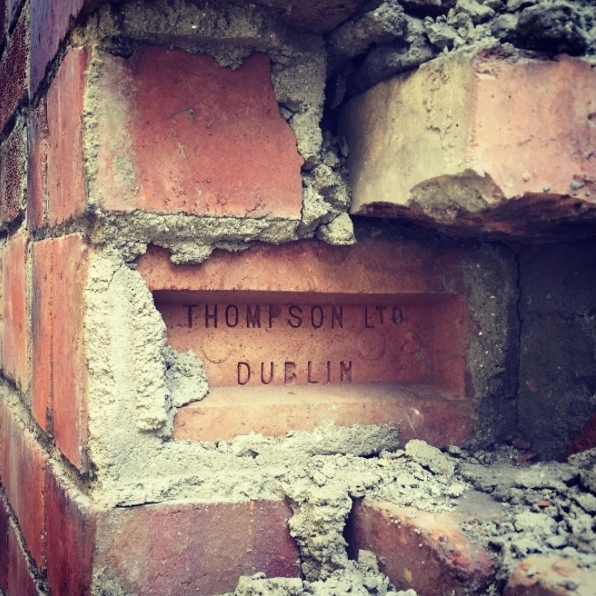 Opening up old brickwork on one of our conservation projects in South Dublin. We are Grade 3 Accredited Architects.