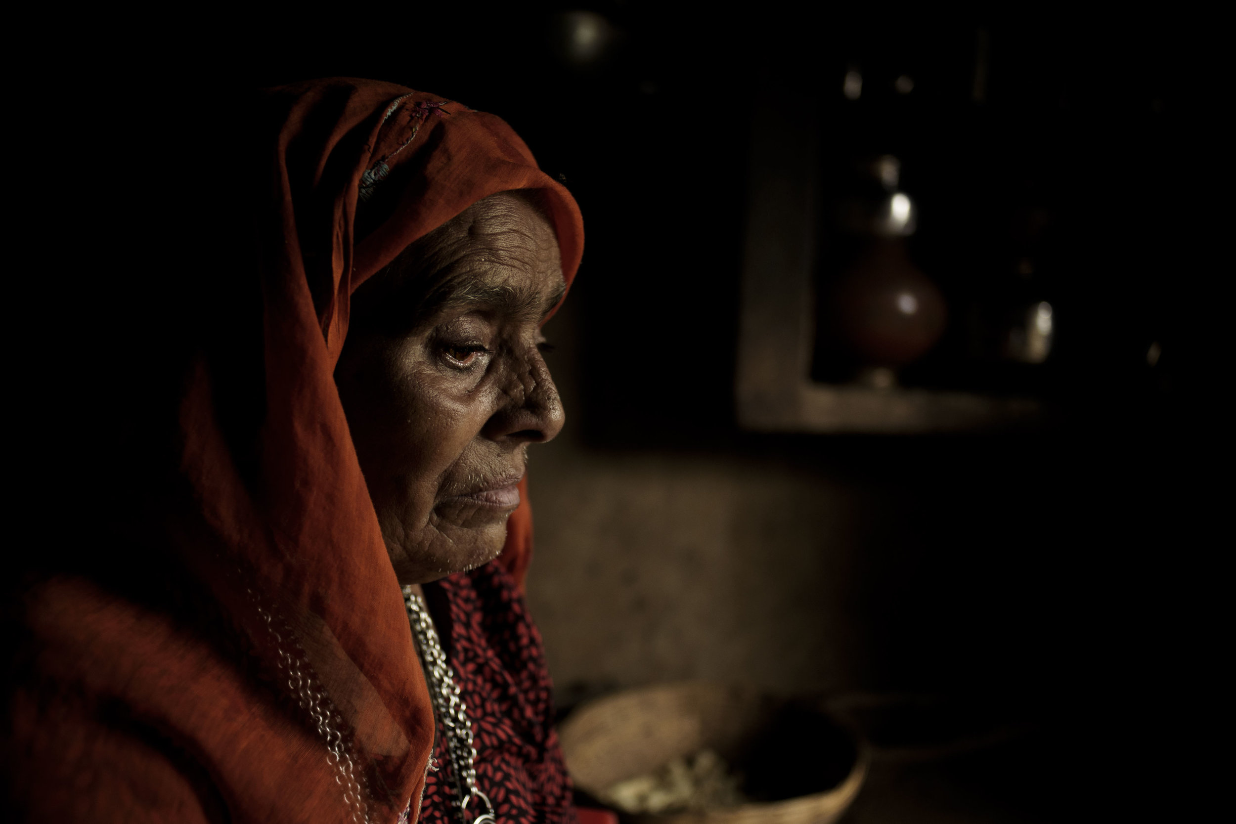 Babli, 50, is Nathu Homa's wife. She is a housewife and also suffers from Hypertension.