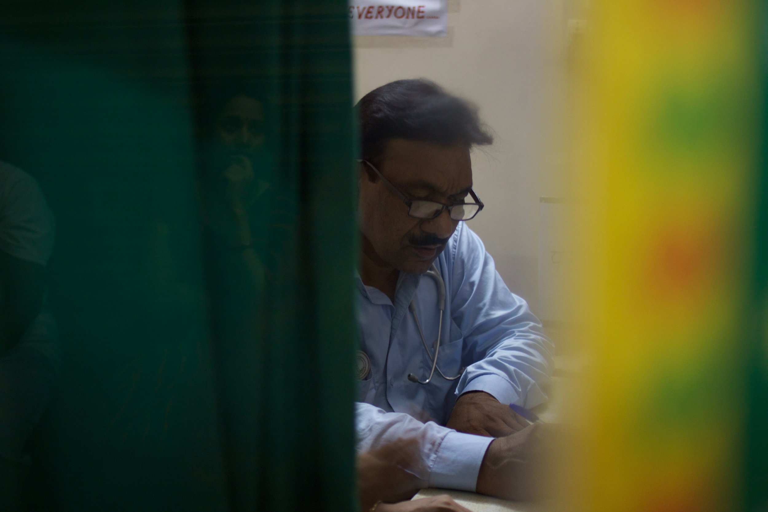 Dr. Rajesh Bhadoria has manned, maintained and decorated his one-doctor clinic the same way for the past 30 years.