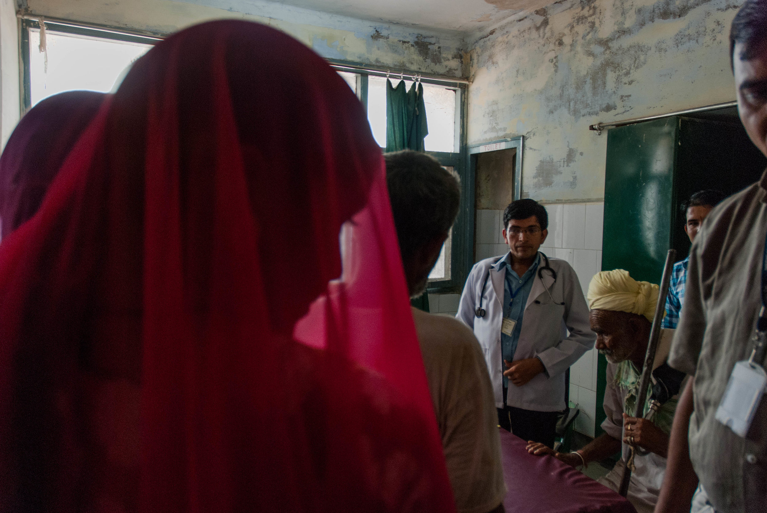 Doctors' offices are often crowded with patients, both locals of Bikaner and those who have traveled across states, who come in search for free diagnosis and medical treatment.