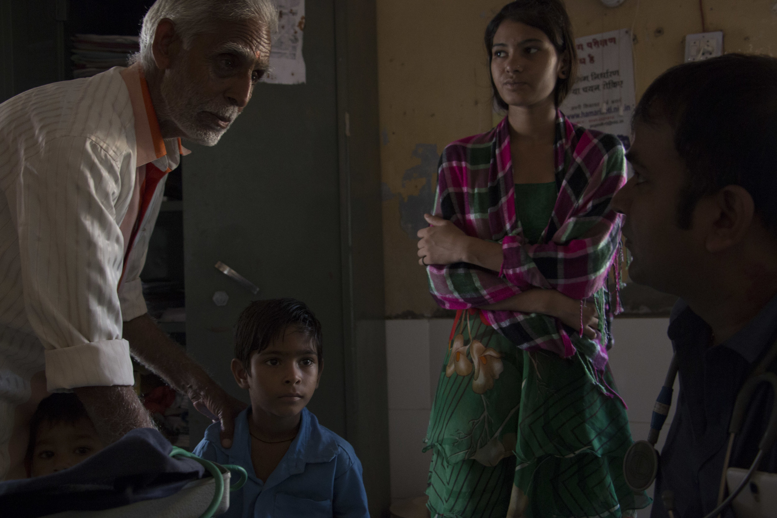 Patients visiting a doctor at a Primary Healthcare Center (PHC), Rajasthan. Despite being the third largest producer of high quality generic medicine, 65 percent of the total population of the country does not have access to essential and life saving drugs.