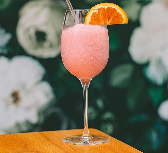 Slay all day, then frosé! This is the last week-end to get your dose, our magic frosé machine will then hibernate until Spring. Thank you @thefoodlens for featuring those oz of pure pink pleasure 💕 📸 @briansamuelsphotography