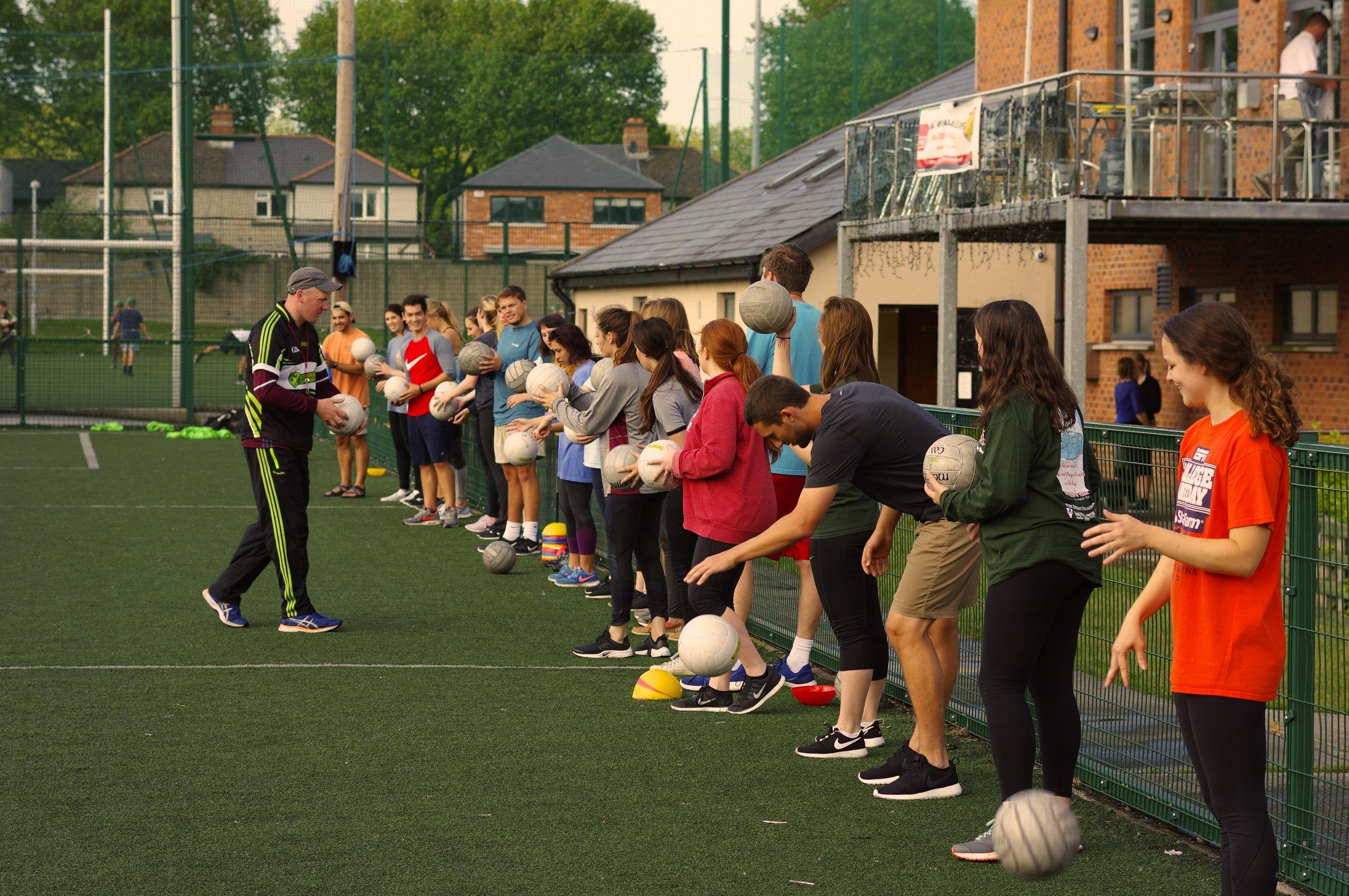 Learning to play Gaelic football in Dublin