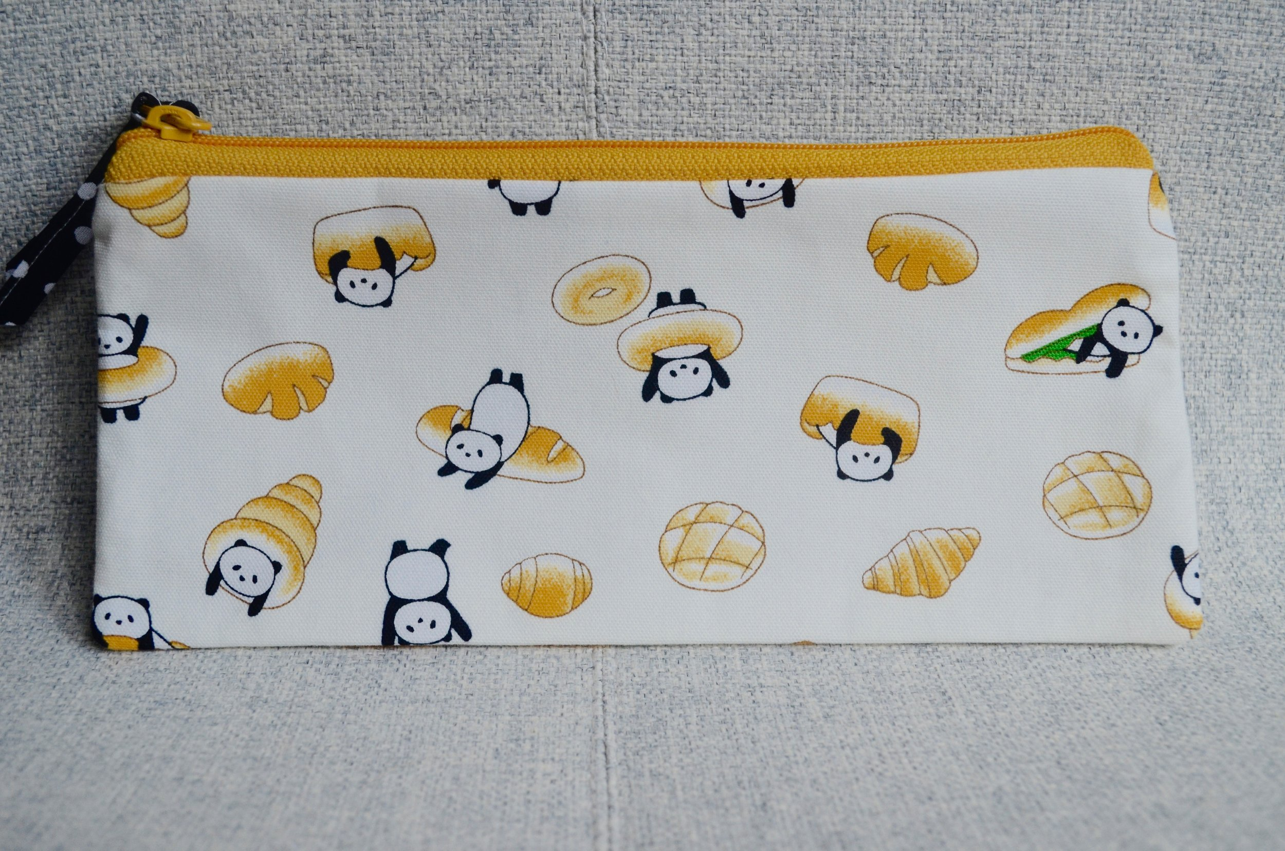 Pandas & Buns pencil pouch from SewFlo