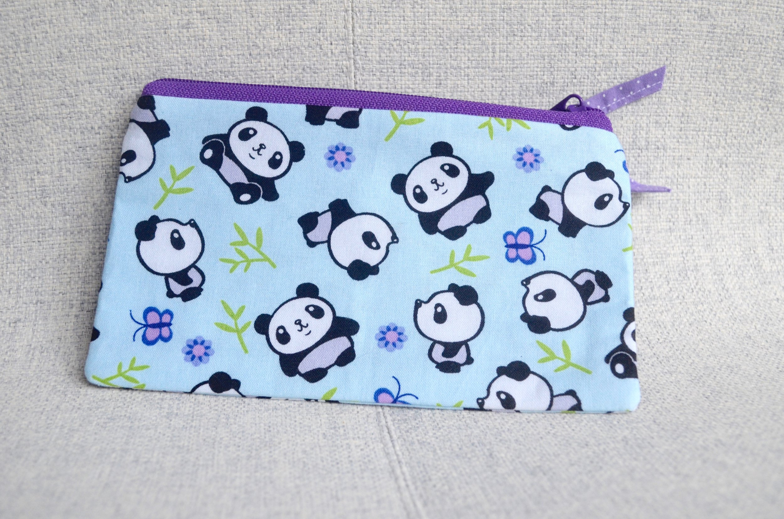 Panda notions pouch from SewFlo