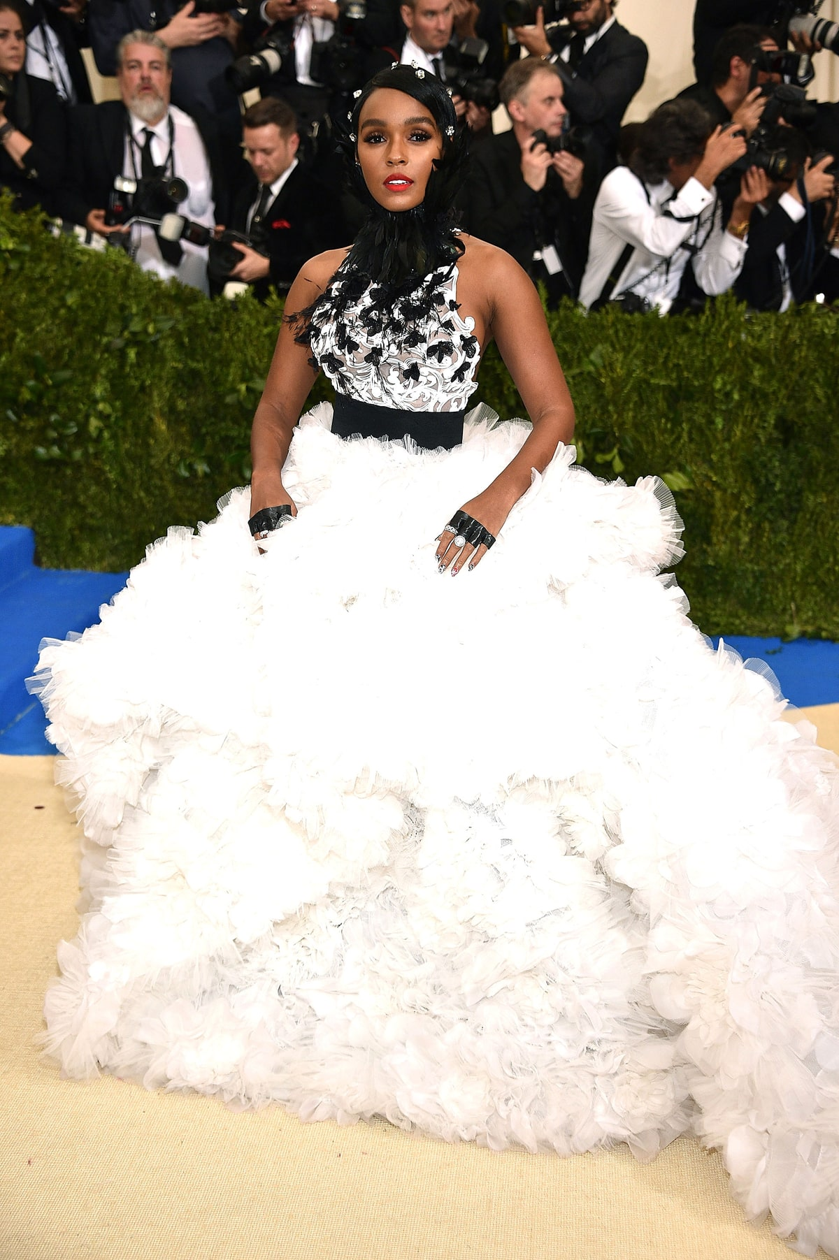 Janelle Monae   in Ralph and Russo.  Speechless .  Please see the last commentary for Chrissy Teigan and feel free to apply it to the photo above.