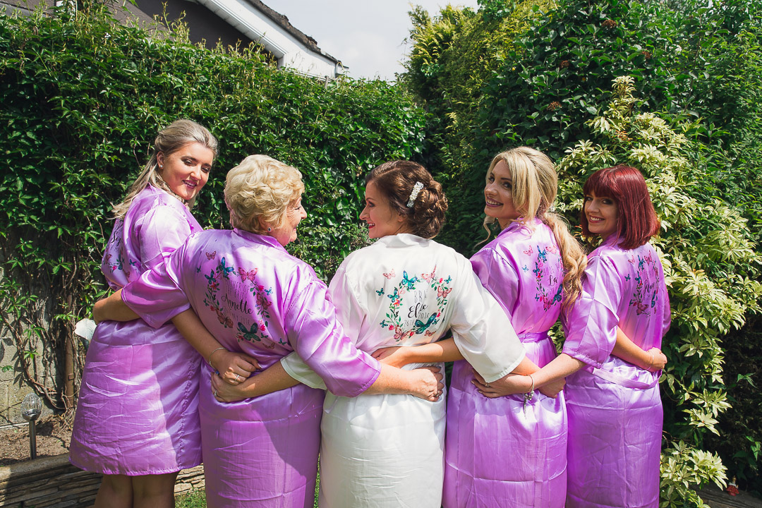 Pink wedding robes. #team bride