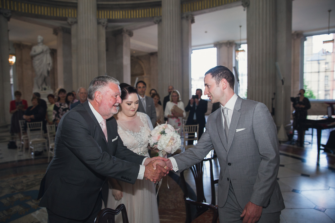 Dublin City Hall Wedding.