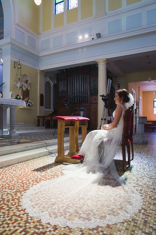 Flowing Gown. Wedding Dress Carrigaline Chrurch Wedding