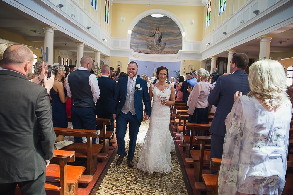 Bride & Groom Church Exit