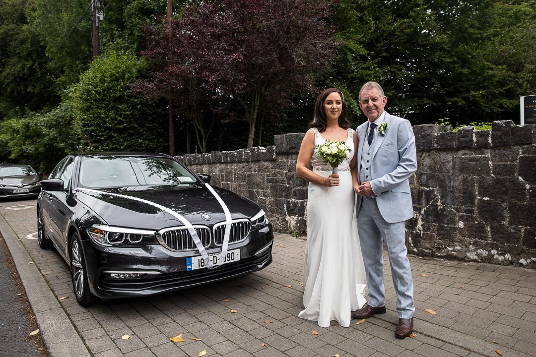 Michelle & David Radisson Blu Hotel & Spa Limerick. Monaleen Church, Bride arriving