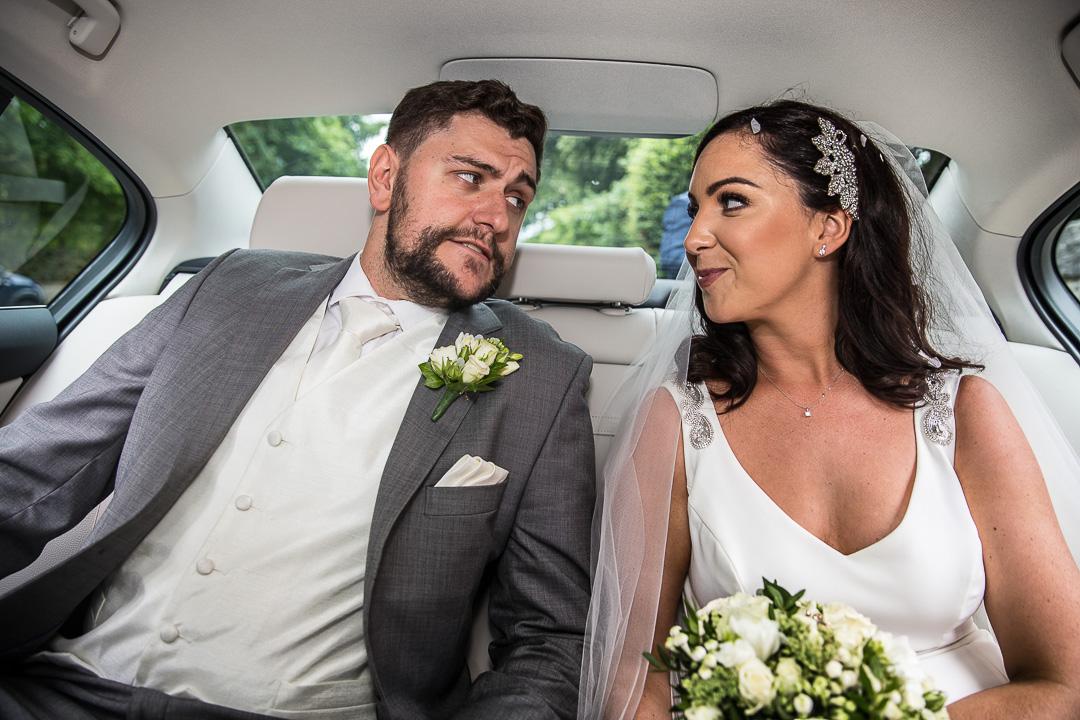 Monaleen Church Wedding Limerick. Wedding Car exit