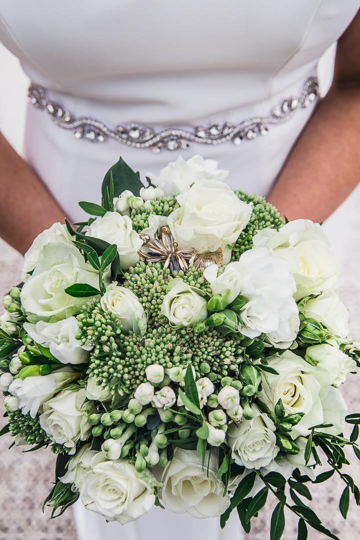 Michelle & David Photos taken at the boat house University Limerick. Flower Bouquet.