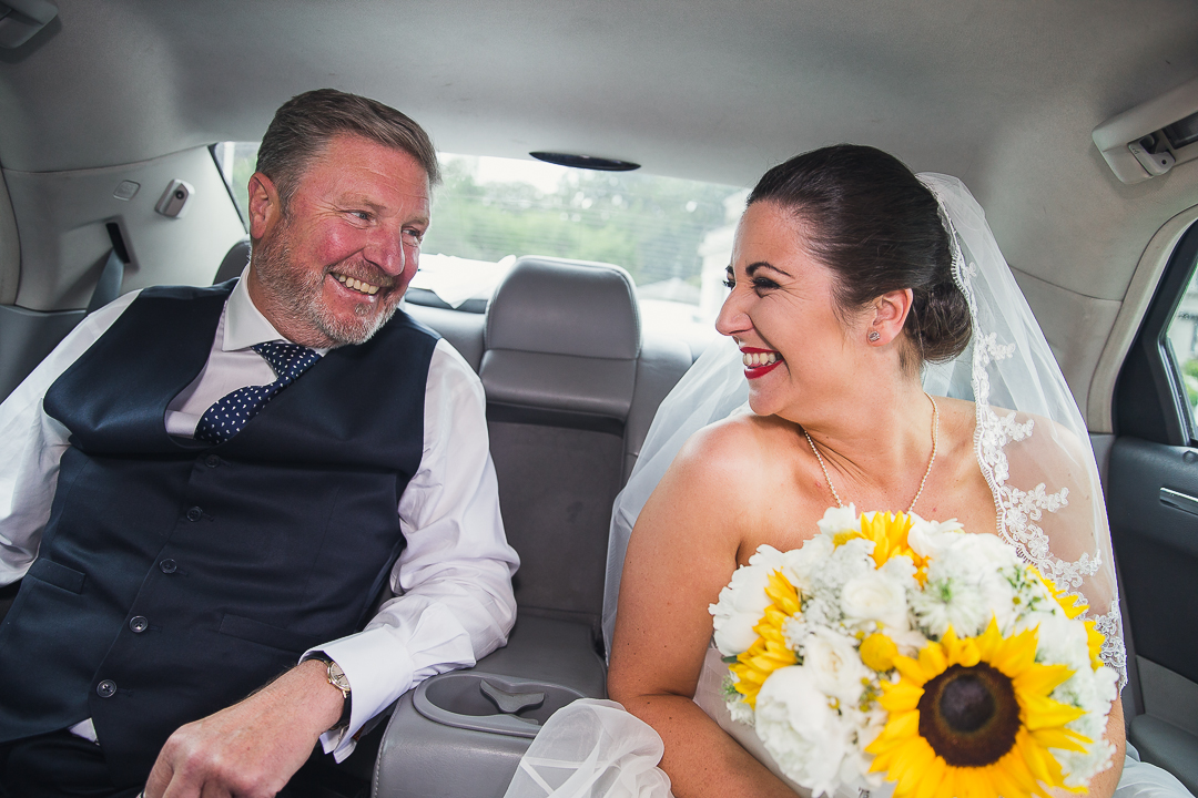 Finnstown Castle Wedding by Stargaze Photography. The Bride arriving