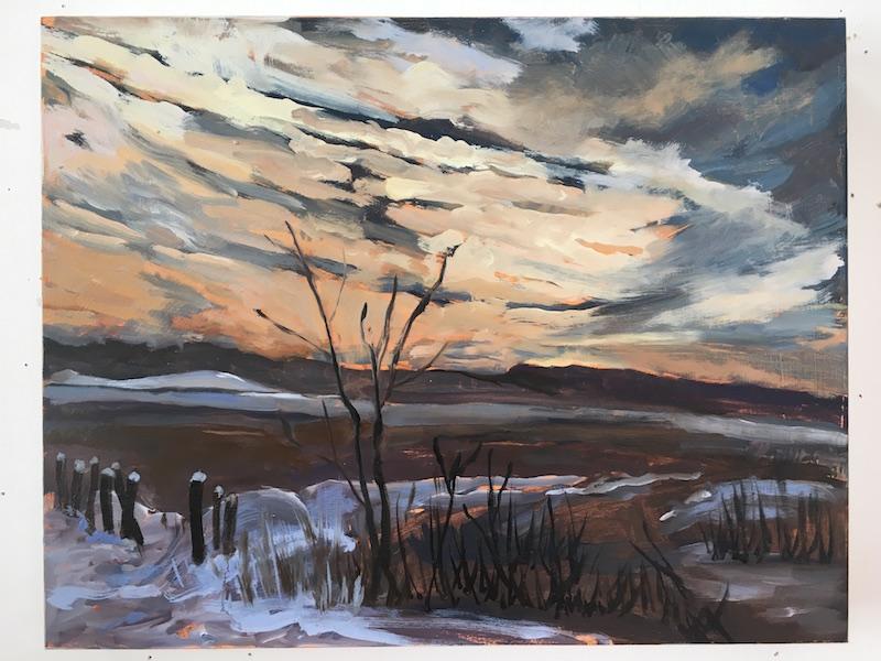 """Landscape — Beware the Ides of March"" — Ann Saunderson"