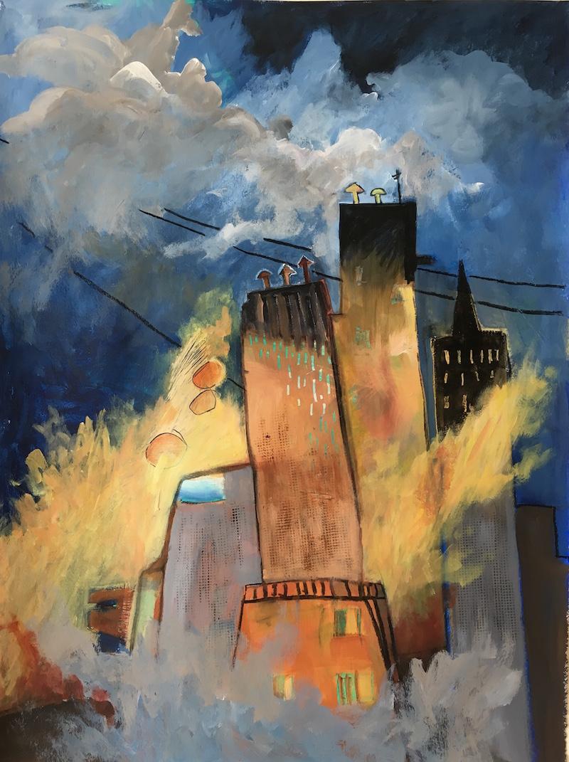 """City on Fire — Cataclysm"" — Ann Saunderson"