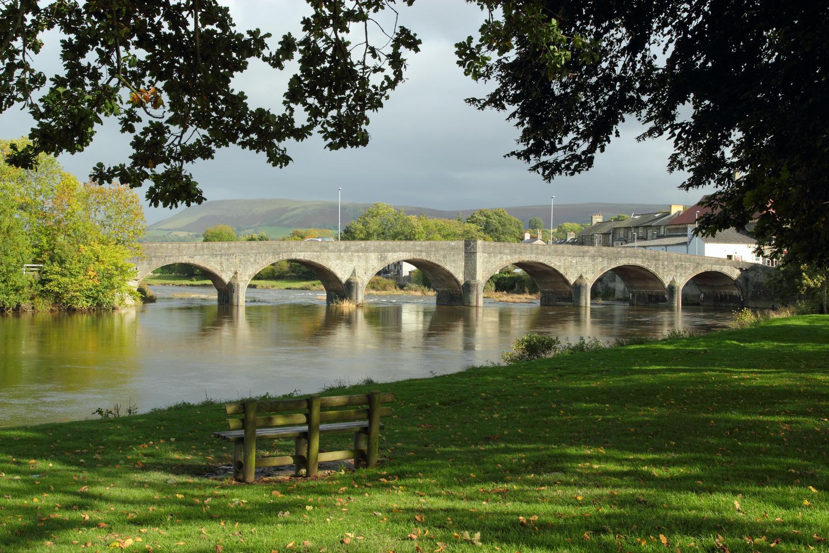 The famous Wye Bridge, Builth Wells