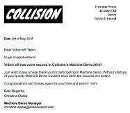 Review Collision Letter here