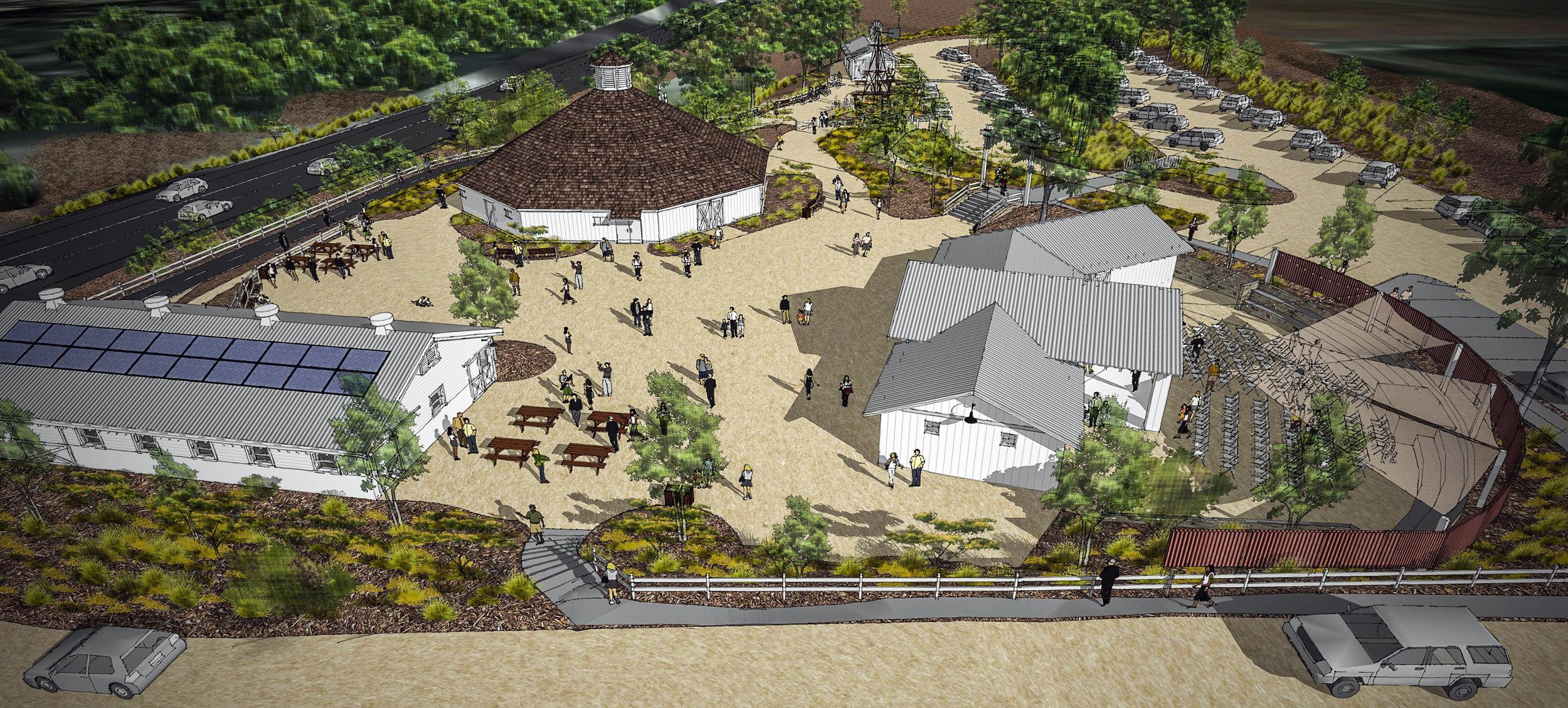 Octagon Barn Landscape Architecure Plan View.jpg