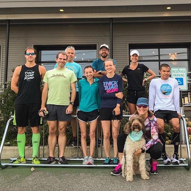 Easy like Sunday morning. Welcome to Fall, Squad. 🙌 #thickquadsquad #sundayrunday #runclub #rungroup #mainerunning #marathontraining #runfam