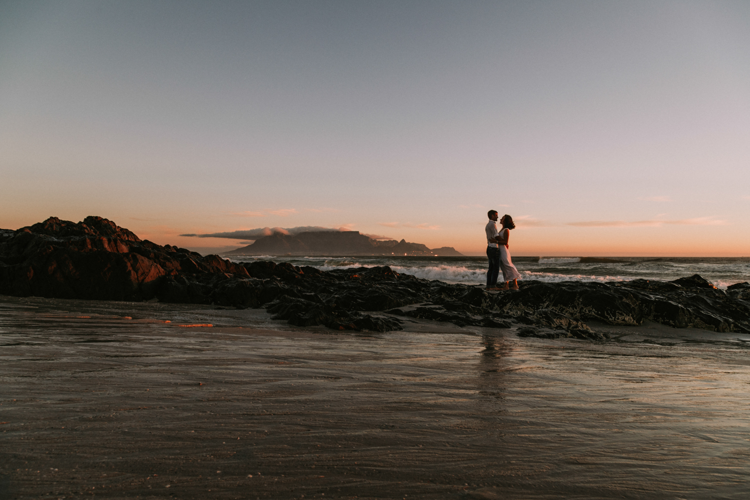 table mountain engagement photography
