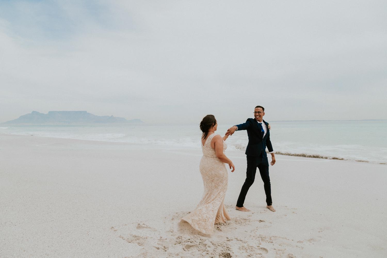table mountain wedding photo