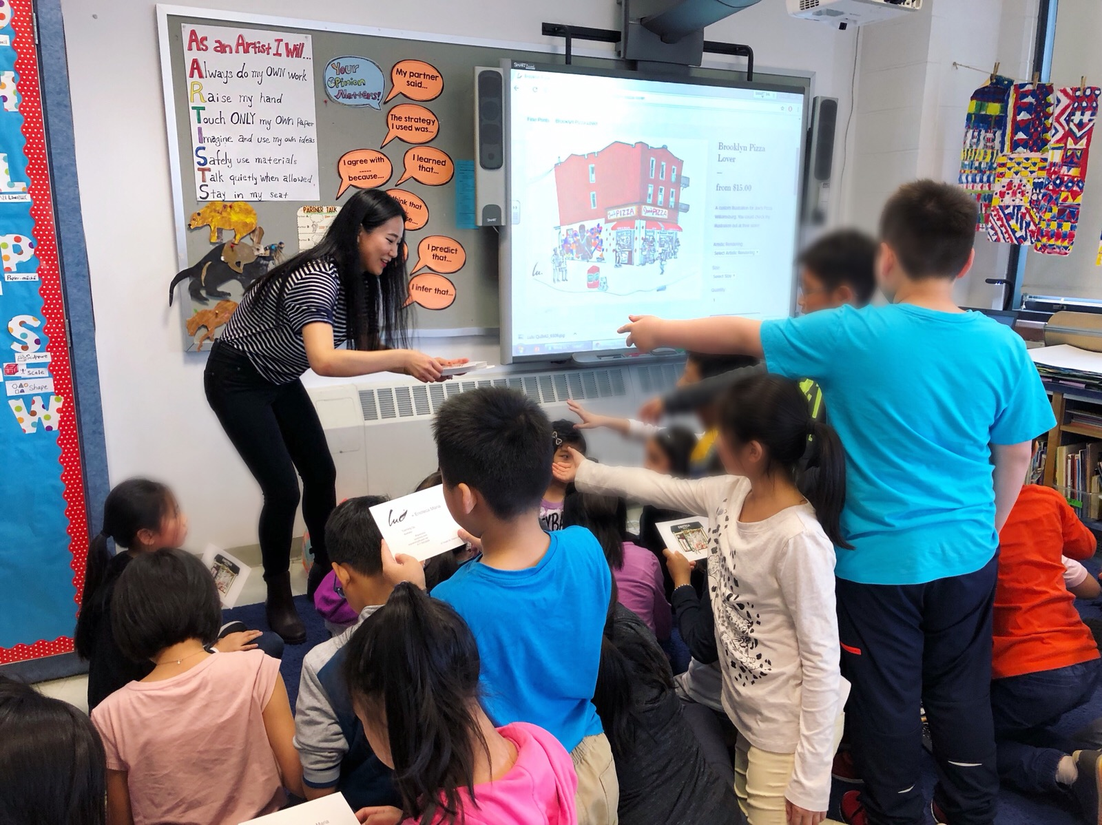 LULU x P.S. 69 Vincent D Grippo School  Lulu visited P.S. 69 Vincent D Grippo School and gave the students talks about her art at May 10th and June 1st 2018.