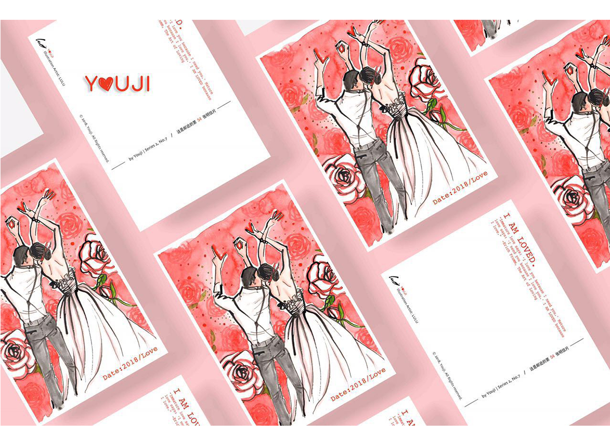 LULU x YouJi Postcard  Lulu's collaboration with YouJi Postcard for Valentine's Day Limited Edition at February 2018.