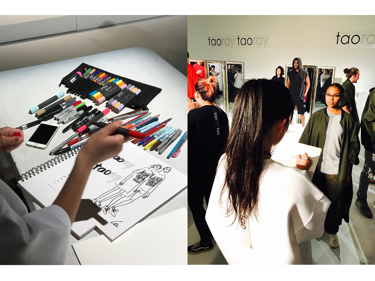 LULU x Taoray Taoray by Taoray Wang  Lulu's live sketching collaboration with Taoray Taoray at New York Fashion Week at September 12th 2017.