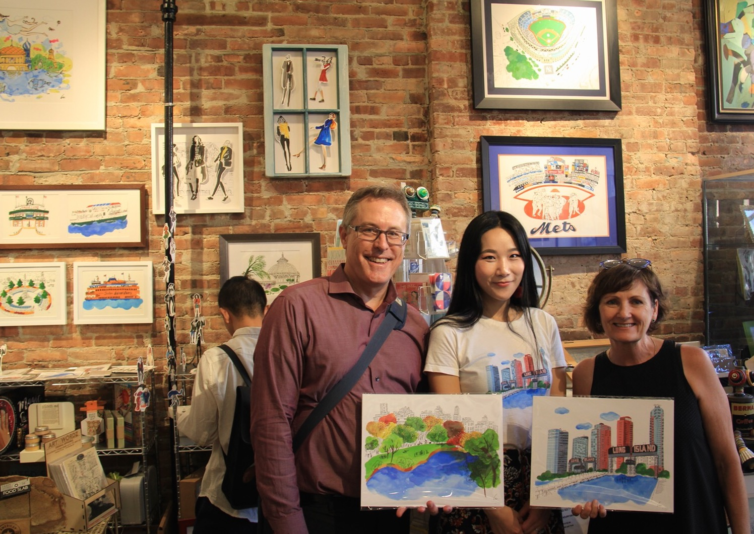 LULU x Matted LIC  Lulu's New York theme Illustration SOLO Exhibition opening night at Matted LIC at July 19th 2018.