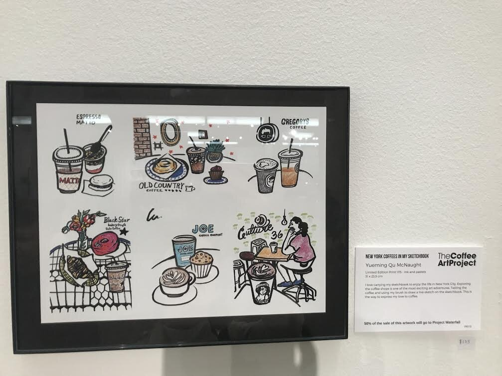 LULU x The Coffee Art Project  Lulu's Illustration was displayed at New York Coffee Festival at Manhattan New York at October 2018.