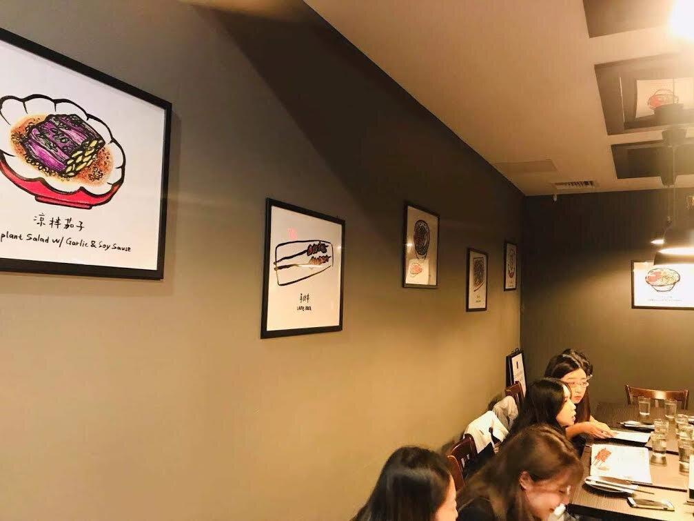 LULU x Dun Huang Restaurant  Lulu's Illustration Collaborated with Dun Huang Restaurant are displayed at Dun Huang Restaurants at New York City.