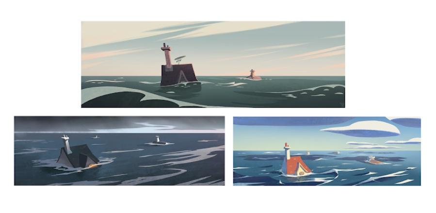 Concept designs by Sixtine Dano for the last scene.