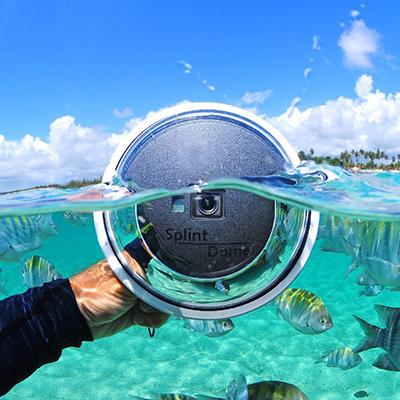 Dome - Equipamento sensacional para usar com a GoPro e conseguir aquela imagem incrível debaixo d'água e fora dela ao mesmo tempo.É uma cúpula de plástico para se colocar ao redor da Gopro. Para maiores infos, visite o site:https://meudome.com/