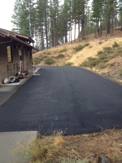 Wastewater Facility: - Asphalt replaced at the waste water facility.