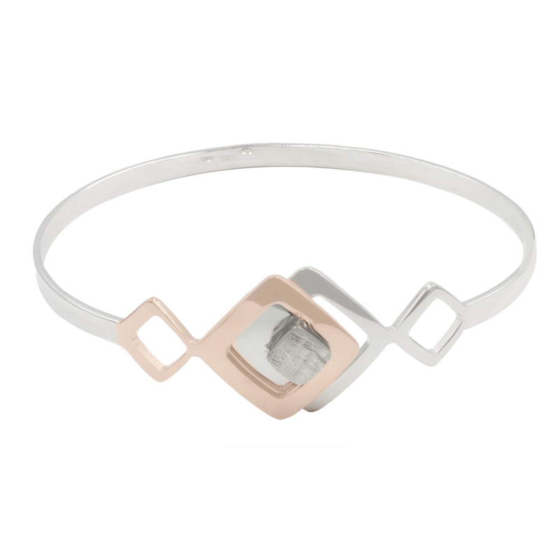 610-753   Rose Gold Plated Sterling Silver Cuff Bracelet $387.00