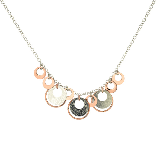 "665-455   Rosé Gold & Sterling Silver ""Diedra"" Necklace $330.00"