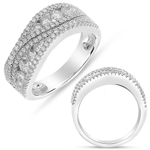 130-297   14 Karat White Gold Fashion Ring With 1.10Tw Round G Si1 Diamonds $3,893.00