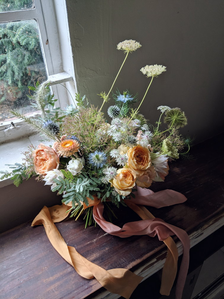 Alice's bouquet. You can see more of our wedding floristry  here  and register for our bouquet making workshop  here