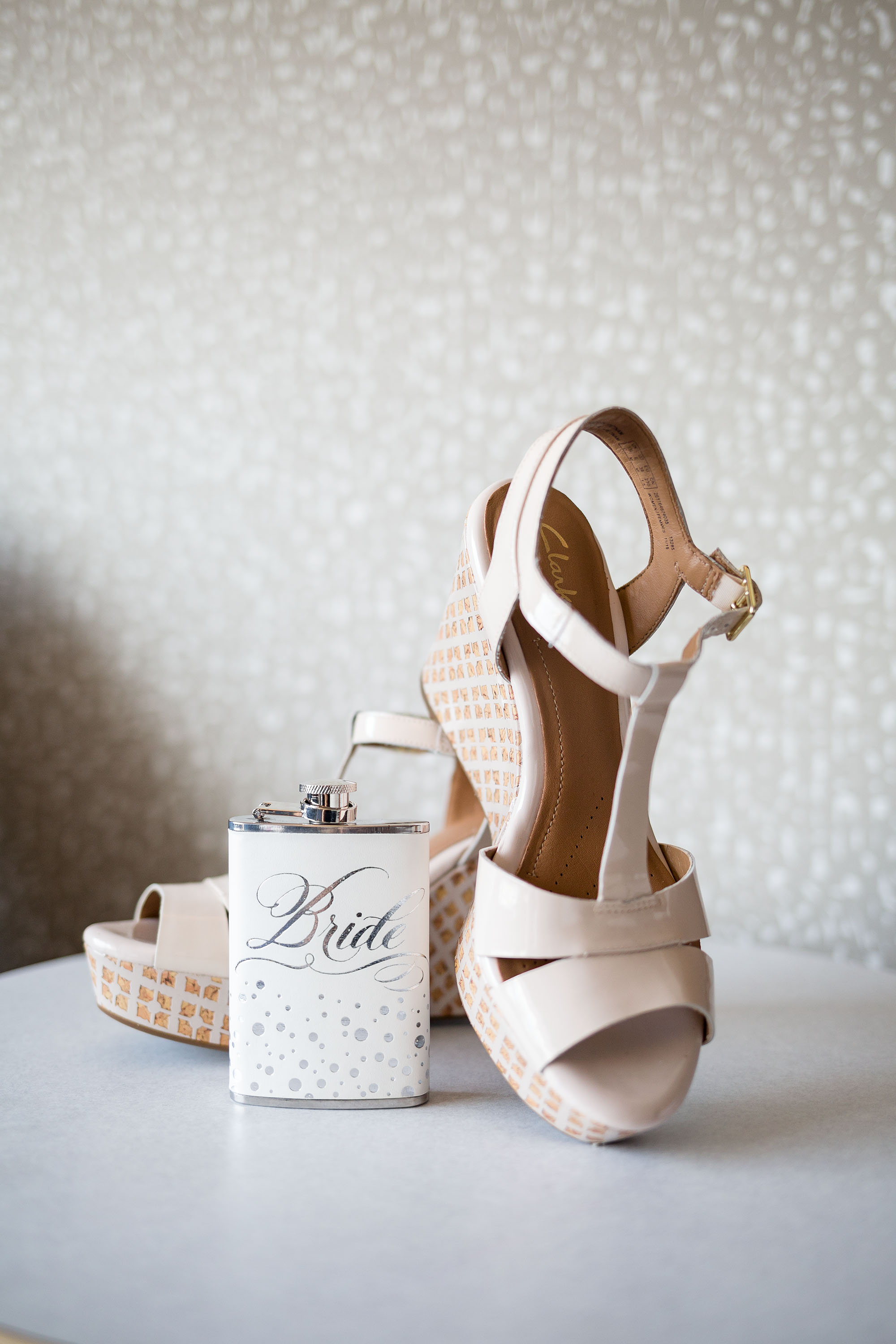 Check out this Bride flask! A perfectly girly accessory for the wedding reception!