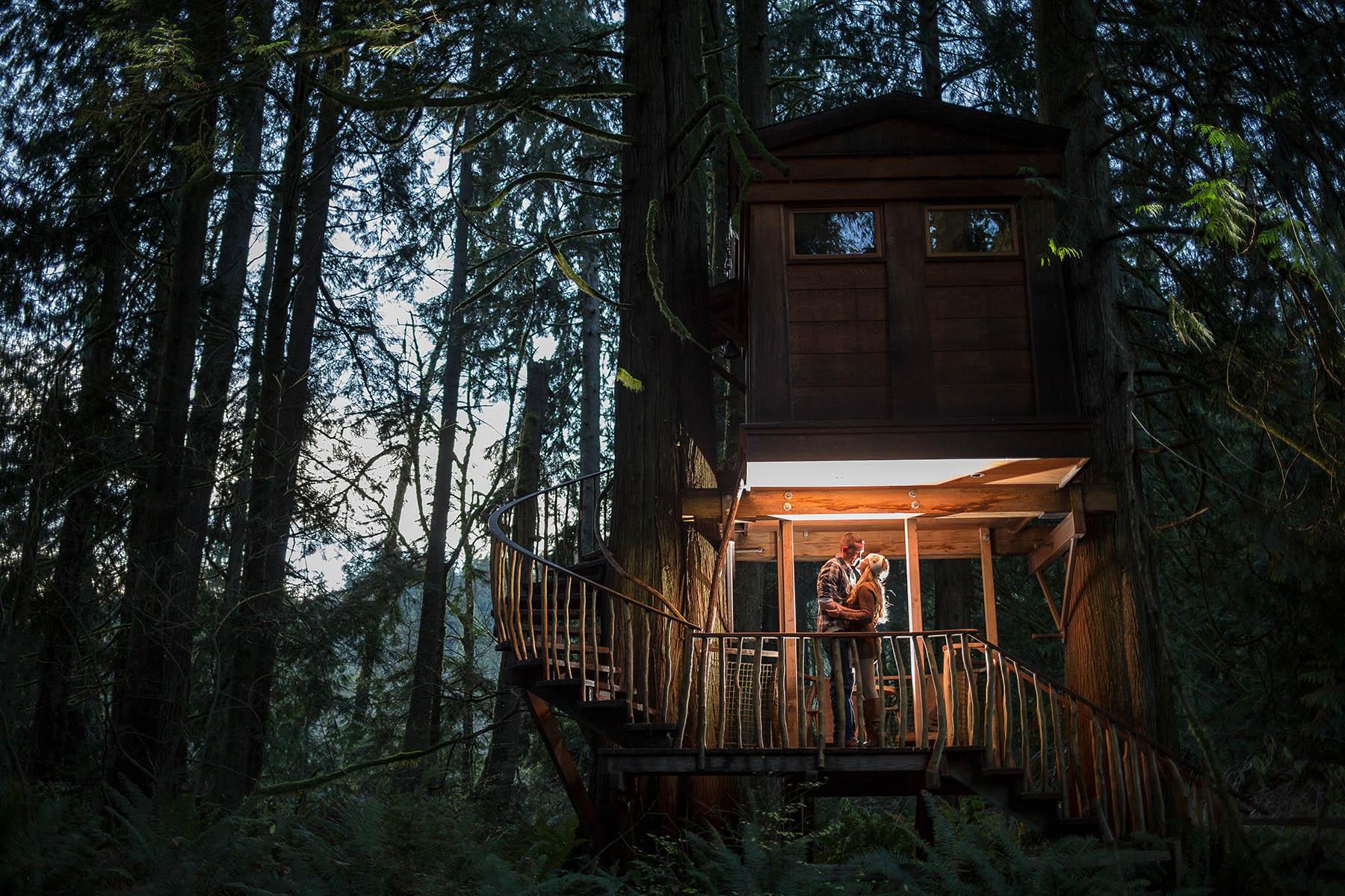 seattle wedding photographers tree house point engagement photos