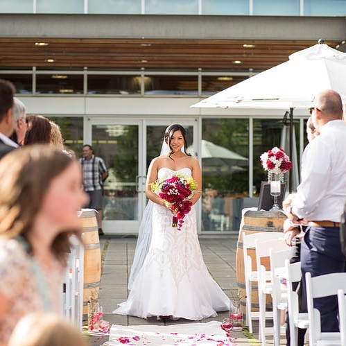 That 'see you down the aisle' feeling is hard to describe. And it's what your #weddingphotographer lives for ! . . . #seattle #seattlewedding #seattleweddingvenue #noveltyhilljanuik #weddingsinwoodinville #woodinvilleweddingvenue #weddingphotographyseattle