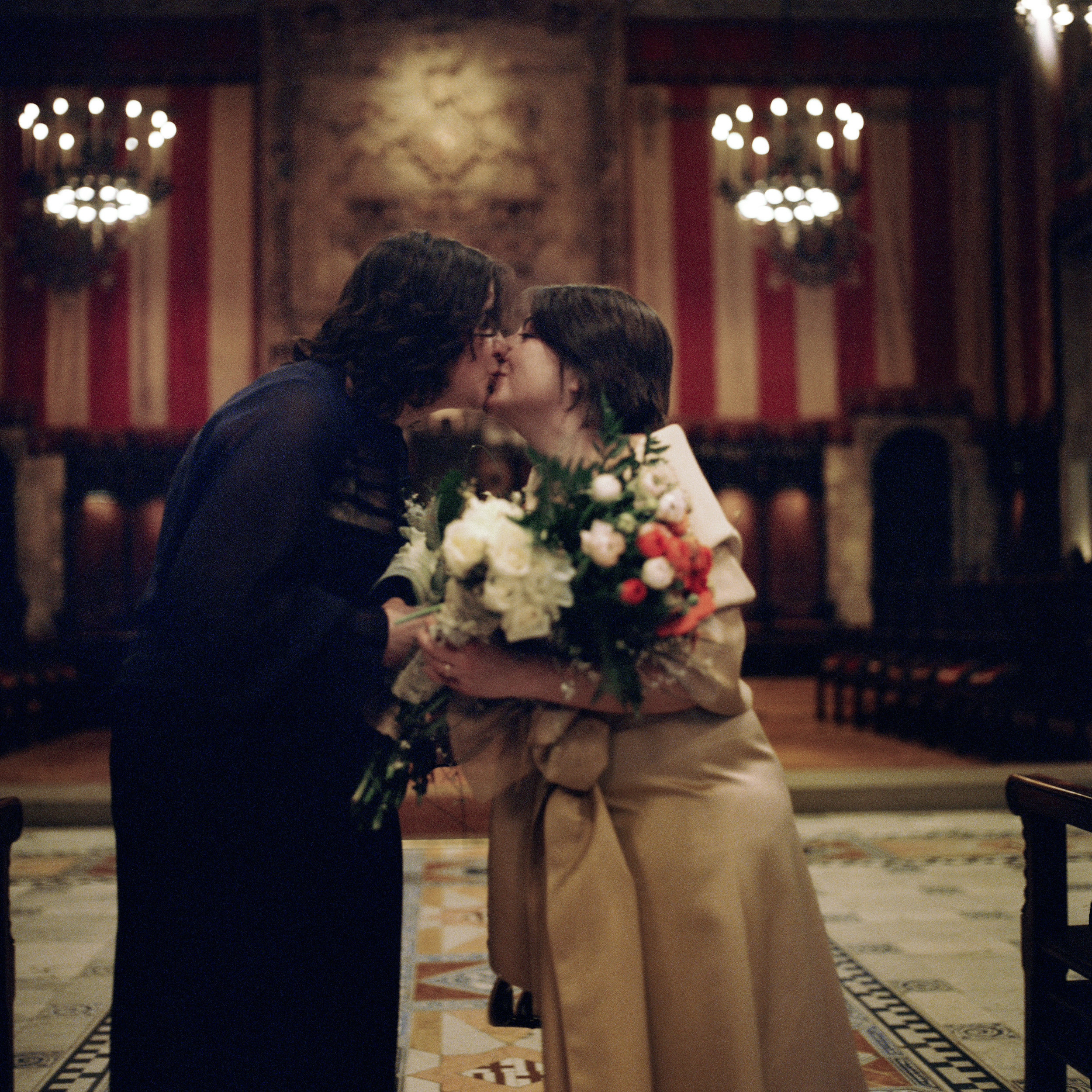 Chiara and Roberta were married at Barcelona City Hall in 2010. Their marriage was not recognized in Italy.