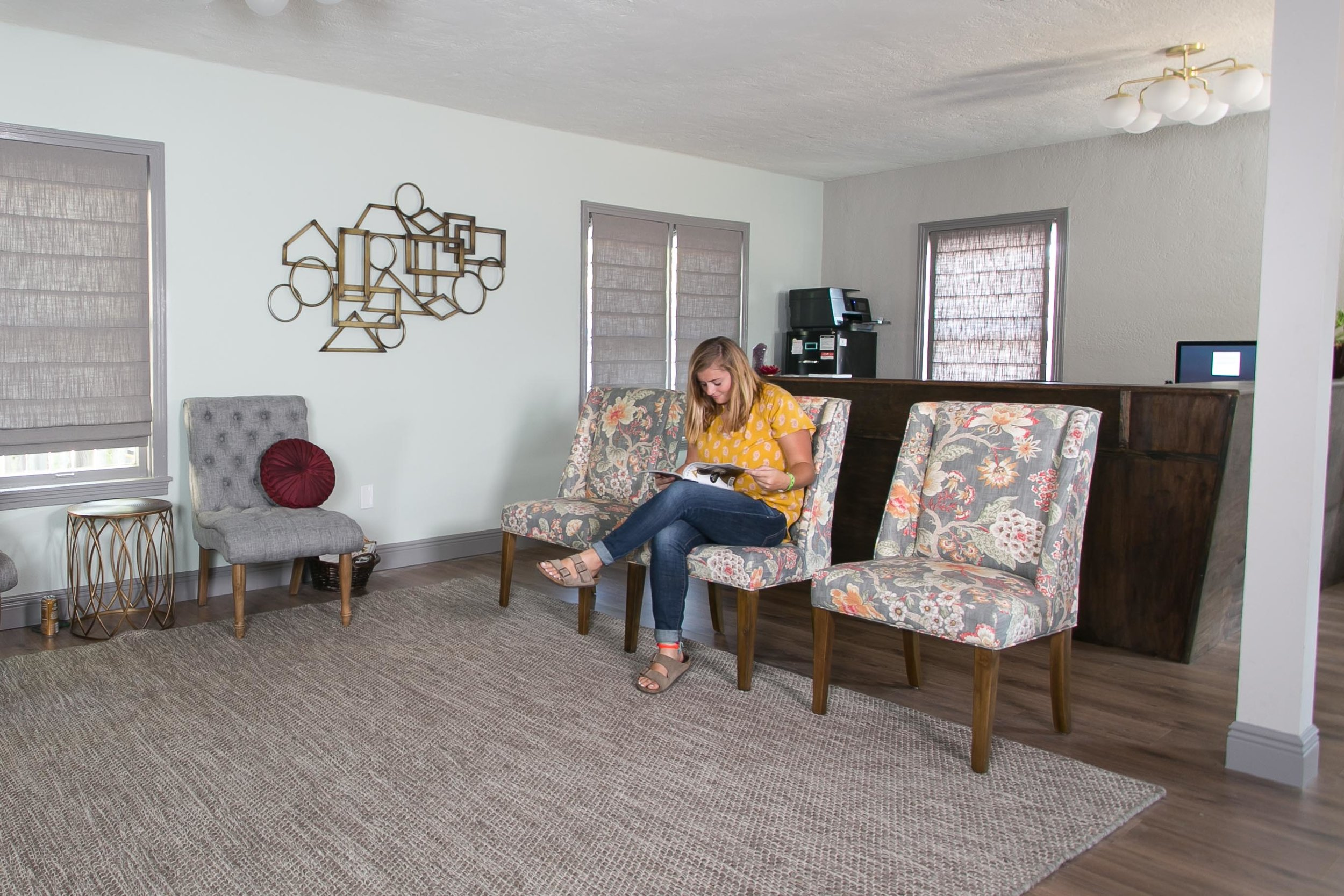 Relax in our comfy waiting room