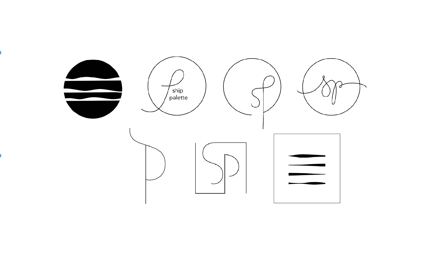 Considered logo proposals