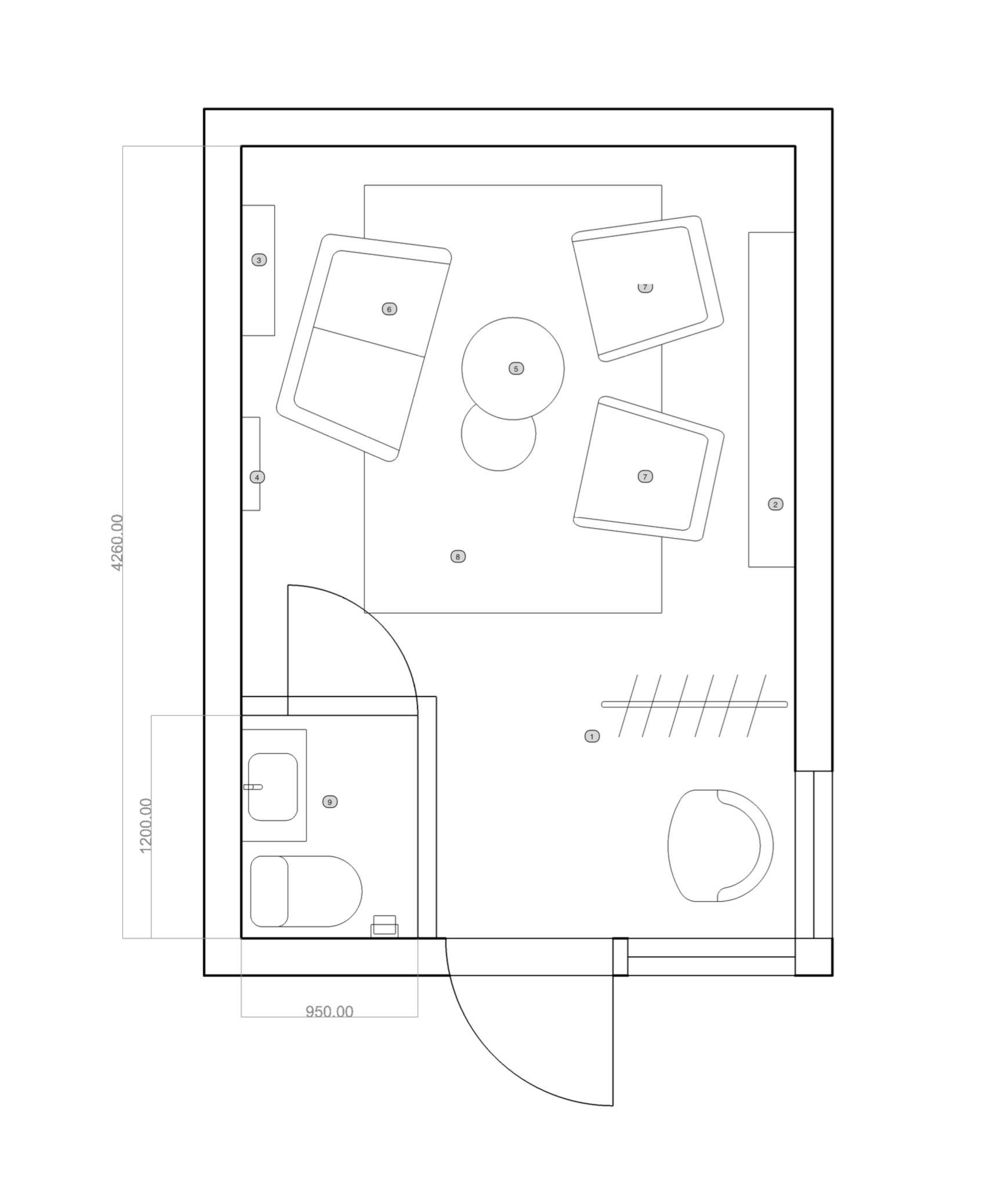 INTERIOR DESIGN PLAN FOR HOME OFFICE