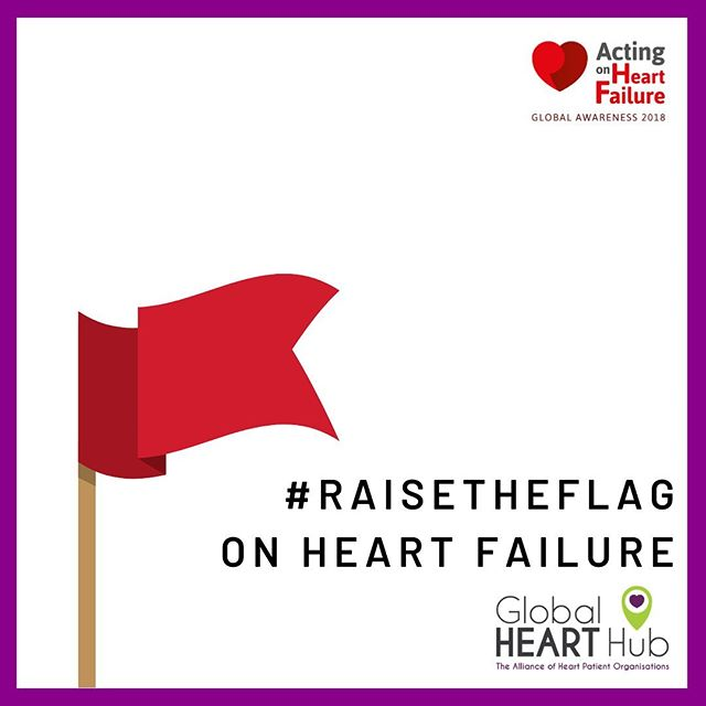 "Today is the launch of @GlobalHeartHub's Red Flag Campaign. This campaign aims to raise a red flag on heart failure to highlight the danger signs and symptoms of #heartfailure.  The earliest symptoms of #heartfailure are often very subtle, but it's dangerous to ignore them. Heart failure is a serious chronic condition where the heart cannot pump enough blood to support the needs of other organs in the body.  By themselves, any one symptom of #heartfailure may not be cause for alarm. But if you have one or more symptoms, even if you haven't been diagnosed with any heart problems, visit your GP and ask the question ""Could I have heart failure?"" Today and for the next 3 Fridays in May, let's #RaisetheFlag and help highlight the signs and symptoms of heart failure. www.globalhearthub.org/raisetheflag @globalhearthub 